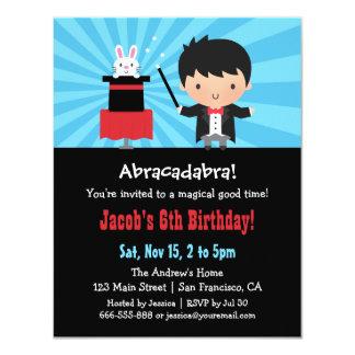 Magier scherzt magische Geburtstags-Party 10,8 X 14 Cm Einladungskarte