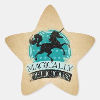 Magisch köstliches (Unicorn-Fleisch) Vintages Stern-Aufkleber