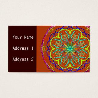 Magische Blumemandala-Geschäfts-Karte Visitenkarten