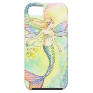 Magische Meerjungfrau-und Mond-Fantasie-Kunst Etui Fürs iPhone 5