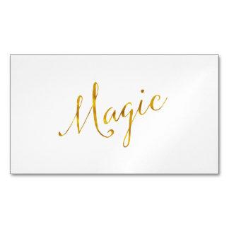 Magische Zitat-Imitat-Goldfolie zitiert den Magnetische Visitenkarten