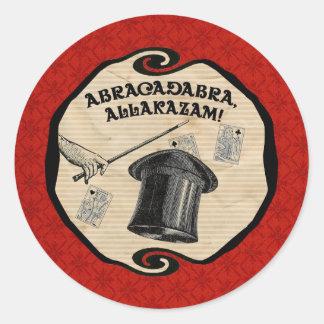 Magischer Party-Abrakadabra-Aufkleber Runder Aufkleber