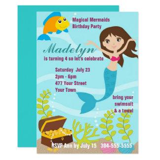 Magisches Meerjungfrau-Pool-Party 12,7 X 17,8 Cm Einladungskarte