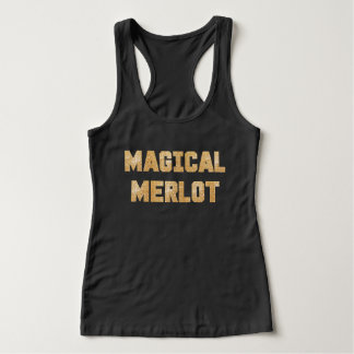 Magisches Merlot-Glitter-GoldWinesday Shirt