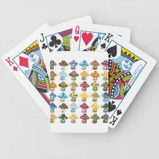 Magisches Pilz-smiley-Muster Spielkarten