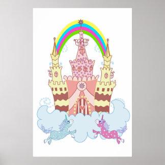 Magisches Schloss mit niedlicher Poster