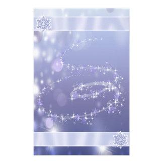 Magisches Snowy-Märchenland-Briefpapier Büropapier