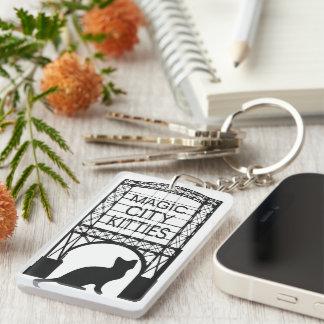 Magisches Stadt-Kätzchen Keychain Schlüsselanhänger