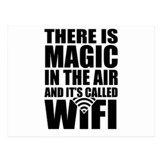 Magisches wifi postkarte