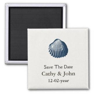 Magnet des Strandes Save the Date Kühlschrankmagnet