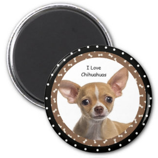Magnet Liebe I Chihuahuas-2 Runder Magnet 5,7 Cm