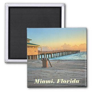 Magnet Miamis, Florida Quadratischer Magnet