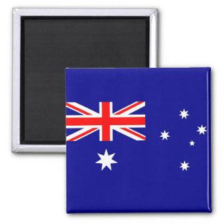 Magnet mit Flagge von Australien Quadratischer Magnet
