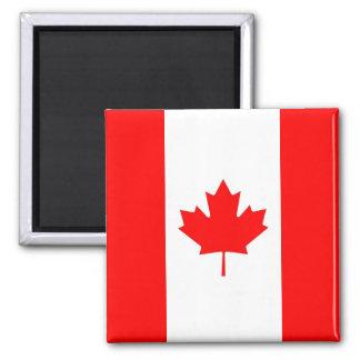 Magnet mit Flagge von Kanada Quadratischer Magnet