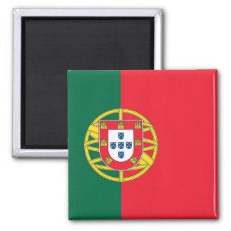 Magnet mit Flagge von Portugal Quadratischer Magnet