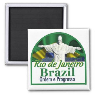 Magnet Rio de Janeiro Brasilien Quadratischer Magnet
