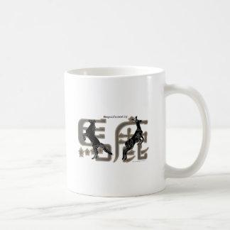 Magnficently Baka Kanji, Rotwild und Pferd Tasse