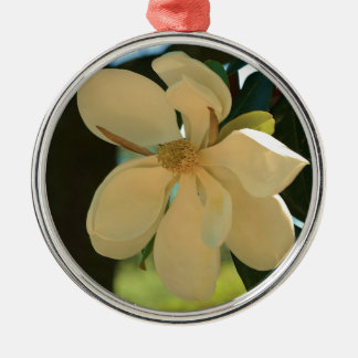 Magnolie (Mississippi und Louisiana) Rundes Silberfarbenes Ornament