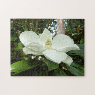 Magnolien-GrandifloraFoto-Puzzlespiel mit Puzzle