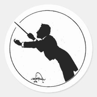 Mahler Leiten Runder Aufkleber
