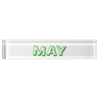 Mai-Schreibtisch-Nummernschild