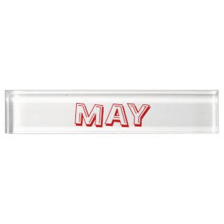 Mai-Schreibtisch-Nummernschild durch Janz