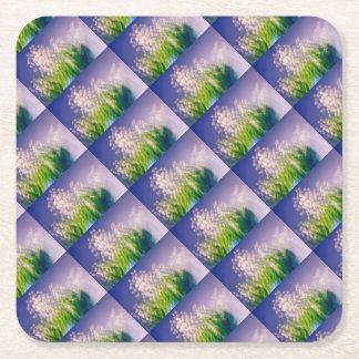 Maiglöckchen-Tanz im Blau Rechteckiger Pappuntersetzer