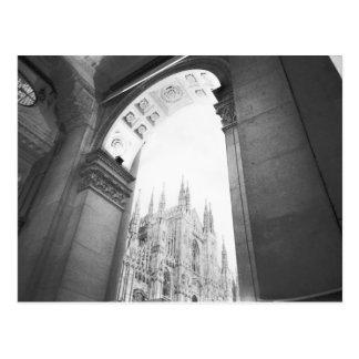 Mailand Italien, Galleria-Ansicht des Duomo Postkarte