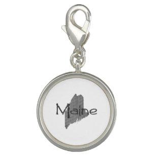 Maine-Kontur-Karten-Form mit Namenscharme Charm