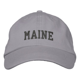 Maine stickte justierbare Kappen-cooles Grau Bestickte Mützen