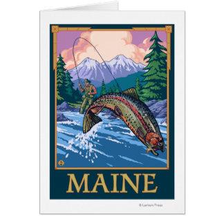 MaineAngler Fischer-Szene Grußkarte