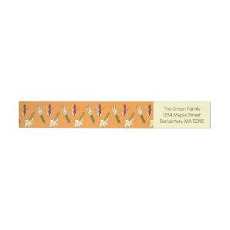 Mais-Hülsen: Orangegelber Standard Adress Aufkleber
