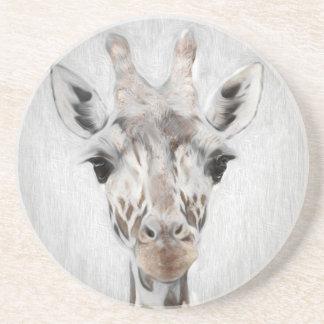 Majestätische Giraffe schilderte produktreiches Getränkeuntersetzer