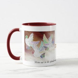 Majestätische Splendor-Tauben-Tasse Tasse