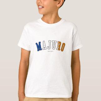 Majuro in den Marshallinseln-Staatsflaggefarben T-Shirt