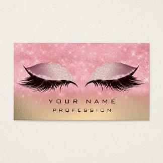 Make-upgold erröten rosa visitenkarte