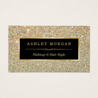 Make-upkünstler-Haar-Stylist-Funky GoldGlitter Visitenkarten