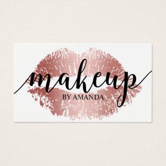Make-upkünstler-Rosen-Goldlippendruck-Salon Visitenkarten