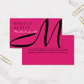 Make-upkünstler-stilvolles Monogramm-moderne Visitenkarten