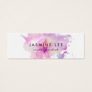 Make-upkünstler Watercolor des Chic lila Budget Mini Visitenkarte