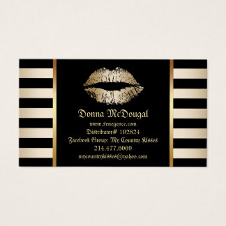 Make-uplippenprodukt-Verteiler-moderne Goldlippen Visitenkarten