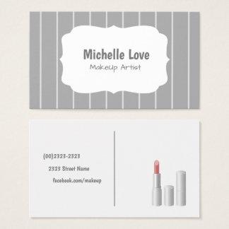 Makeup Artist Geschäft Card Grey Visitenkarte