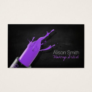 Makeup Artist/Violet Lipstick Visitenkarte