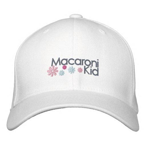 Makkaroni-Kind gestickte Kappe Besticktes Baseballcap