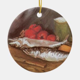 Makrelen, Zitronen und Tomaten durch Vincent van Keramik Ornament