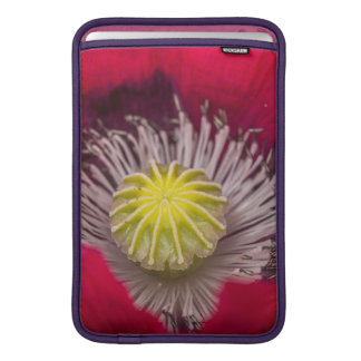 Makro rosa und lila Mohnblumen-Blume MacBook Sleeve