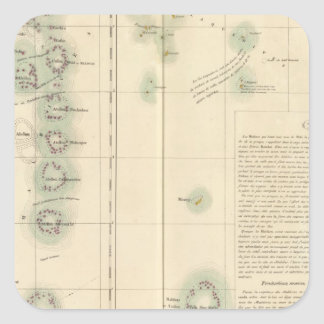 Malediven und Lakshadweep Inseln Asien 107 Quadrat-Aufkleber