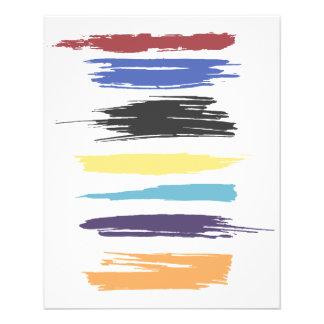 Malen Sie Anschlag-künstlerische abstrakte 11,4 X 14,2 Cm Flyer