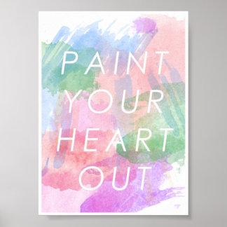 Malen Sie Ihr Herz heraus Poster