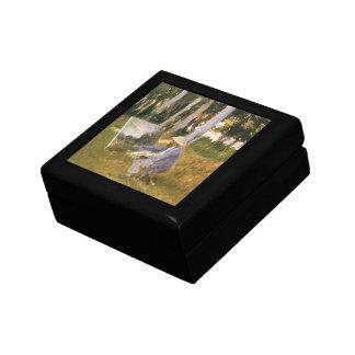 Malender Claude Monet, Rand eines Holzes durch Erinnerungskiste